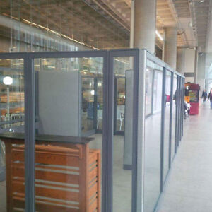KIOSK - GLASS FOR SALE   ***** PRICED REDUCED  $500.00 !!!