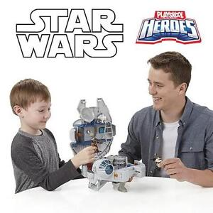 NEW STAR WARS MILLENIUM FALCON PLAYSKOOL JEDI FORCE  - WITH FIGURES - GALACTIC HEROES - KIDS TOYS GAMES 105450946