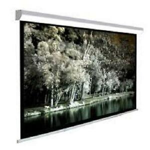 "TC 108"" Manual Pull Down Projector Screen - Matte-White"