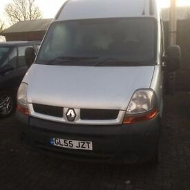 2006 Renault Master dci 120 MWB van, full years MOT, 6 speed, air con, starts and drives well, body