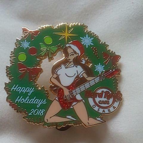 Hard Rock Cafe Osaka Christmas Girl Pin #120 HRC