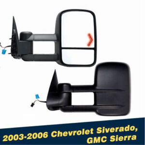 Towing Mirrors For 03-06 Chevy/GMC POWER HEATED TURN SIGNAL
