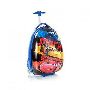 New Disney Cars Mach Speed Hard Shell Luggage Case 2 Wheel Offic