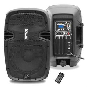 PylePro PPHP837UB 8'' 600 Watt Bluetooth Powered Speaker System W/ USB AUX/MP3 Input With Remote