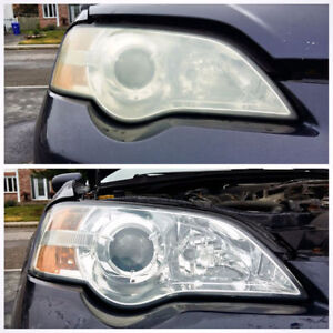 Headlights restoration for just $25(both) and less then 20 min.