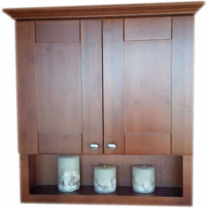 SOLID WOOD LINEN TOWER CABINETS and WALL CABINETS ON SALE !!! Cambridge Kitchener Area image 3