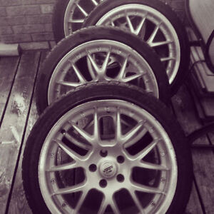 225 40 18 Rial Viper rims and rubber