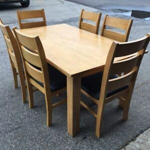 Solid Wood 7 piece dining table