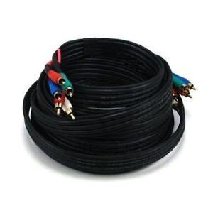 25 ft. 5-RCA Component Video/Audio Coaxial Cable (RG-59 U) - Bla