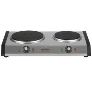 WaringWDB600 Double Burner Solid Top Countertop Range/Heavy Duty