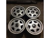 "Speedline 15"" 7J 4x108 Deep dish, original alloy wheels, Classic wheels not lorinser, borbet tm"