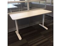 4x White IKEA BEKANT Desk 160cm by 80cm - FREE DELIVERY