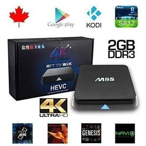 M8S Amlogic S812 Quad Core 4K High Def Video Resolution Kodi Xbm