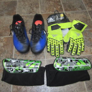 YOUTH SOCCER CLEATS, SHIN GUARDS, GLOVES