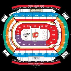 Calgary Flames Tickets - 5 or 10 game pack - CENTRE ICE + AISLE