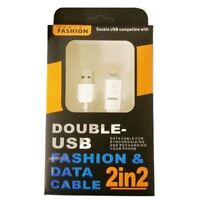 DOUBLE USB FASHION & DATA CABLE