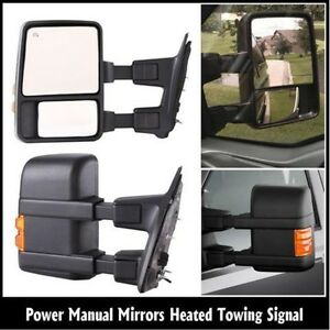 Power Heated Towing Mirrors for Ford 08-15 F250 F350 F450 F550