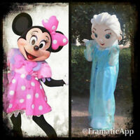 Location Mascotte Minnie Mouse, Elsa La Reine Des Neiges 40$ :)