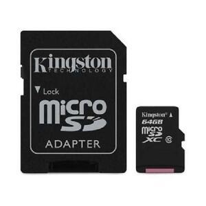 Kingston 64 GB microSD Extended Capacity (microSDXC) - Class 10/