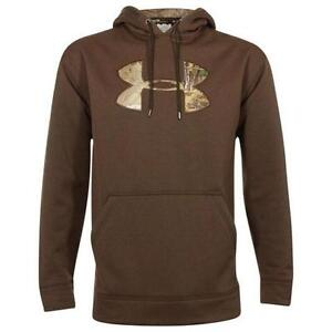 Under Armour Tackle Twill STORM Hoodie (Brown) 1004429-247 2XL