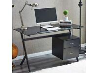 Black Glass Computer/Office Desk