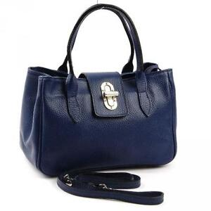 handtasche dunkelblau leder damentaschen ebay. Black Bedroom Furniture Sets. Home Design Ideas