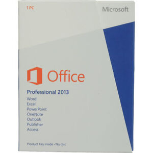 Microsoft Office 2013 Professional Retail PKC New&Sealed