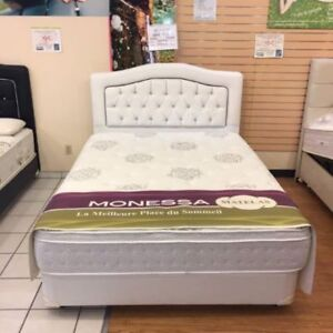 BED SET DOUBLE+ MATTRESSES 675$ TAX INC.-FREE DELIVERY