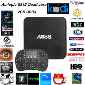 M8S Android Box Quad Core Android Smart TV 2GB+8GB/Mini Keyboard