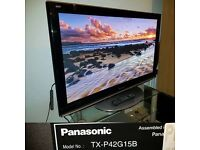 "Panasonic TX-P42G15 TV INTERNET TV 42"" Full HD 1080p Plasma screen"