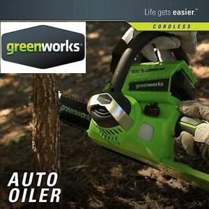 NEW GREENWORKS 24V CHAINSAW 20362 210374223 10 Inch 24V Cordless Chainsaw  2.0 AH Battery Included 20362 BARE TOOL