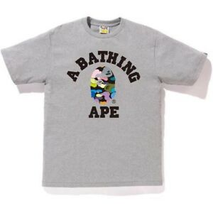 Bape Multi Colour College Tee