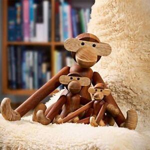 Teak animals vikings and figures Denmark hoptimist monkey duck