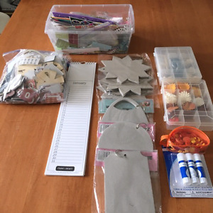 Large scrap booking and art supply collection