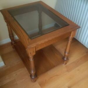 Wooden/Glass Side Table
