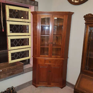 Solid Cherry Corner cupboard