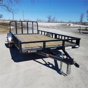 2018 PJ Trailers 7' X 14' Utility w/ Side Mount ATV Ramps