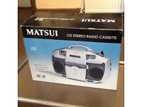 Cd stereo radio cassette player