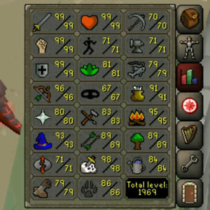 Selling osrs account with 1969 Total Level