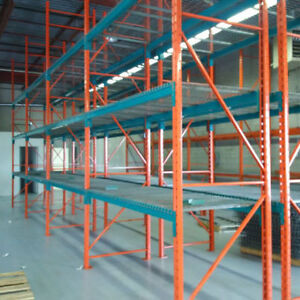 We buy used pallet racking and industrial shelving