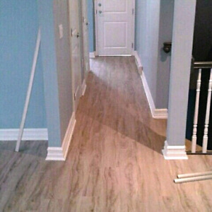 Flooring installs laminate and vinyl plank 95 cents a sqft