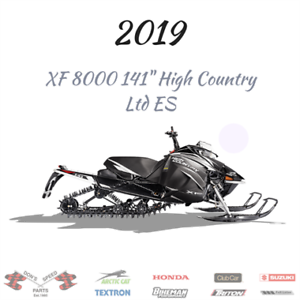 2019 ARCTIC CAT XF 8000 141 HIGH COUNTRY LTD @ DONS SPEED PARTS