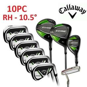 NEW 10PC CALLAWAY GOLF CLUB SET 1204109 201885913 EDGE RIGHT HANDED REGULAR FLEX GOLFING SPORTS 10.5 DEGREES