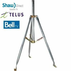 Tripod for Shaw Direct, Telus and Bell satellite dishes