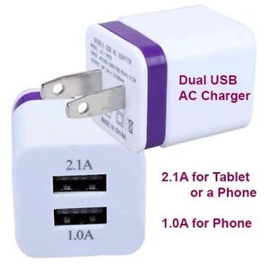 Dual USB wall charger! For tablet & phone.