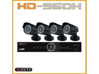 960H EXTERNAL 4 BULLET CAMERA CCTV KIT - IQS960B4 - HARD DRIVE 1TB