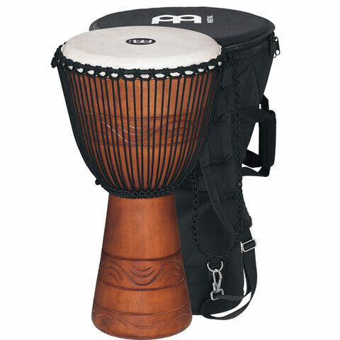 "Meinl ADJ2 MBAG 10"" Djembe Drum with Carrying Bag"