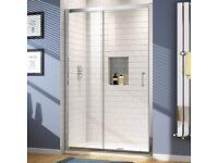 BNIB 1000mm glass sliding shower door
