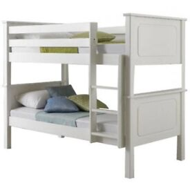 BRAND New single pine or White wooden bunk bed frame and mattress - Convertible bunk bed