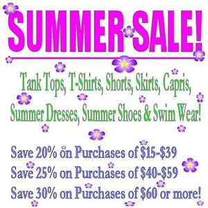 Summer Sale - EXTENDED All JUNE!  Save Up To 30%